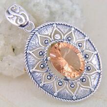 925 silver Morganit hängsmycke