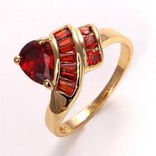 18K GUL Guld Filled gulddoublé Ring Rubin #17