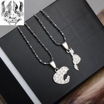 316L rostfritt stål halsband Lovers 'par Halsband