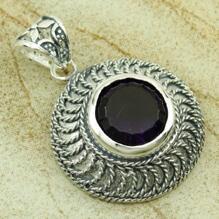 925 silversmycken Ametist ädelsten hänge