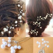 Bröllop brudtärna Ivory Pärlor hårnålar