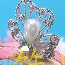 Damer vacker bröllop brud kristall pärla fjäril hårnål håraccessoarer
