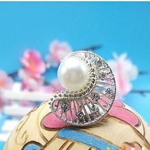 Damer vacker bröllop brud kristall pärla måne hårnål håraccessoarer