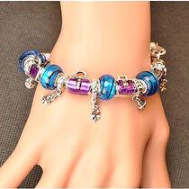 Armband 925 silver pärlor berlock