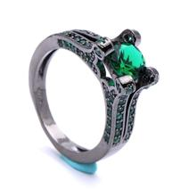 18K SVART Guldfyllda guld Filled gulddoublé Ring Cubic Zirconia