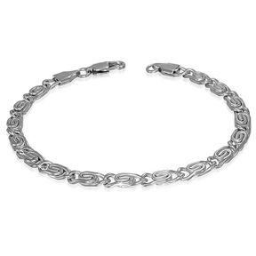 5mm rostfritt stål grekiska Nyckel Armband