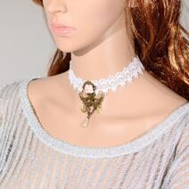 Gotisk spets retro halsband handgjorda